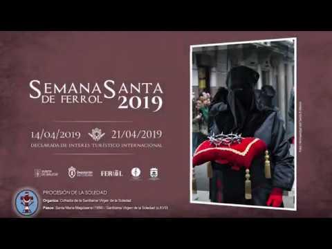 Cofradía de la Soledad Ferrol - Procesión Viernes Santo 2019