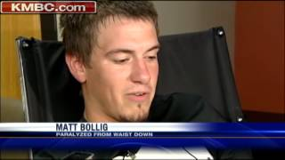 Football player paralyzed after weight-room accident