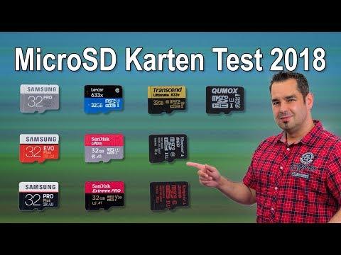 Micro Sd Karte 64gb Test.Großer Microsd Karten Test 2018 Youtube