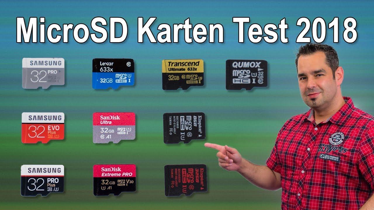 Micro Sd Karte 128gb Test.Großer Microsd Karten Test 2018