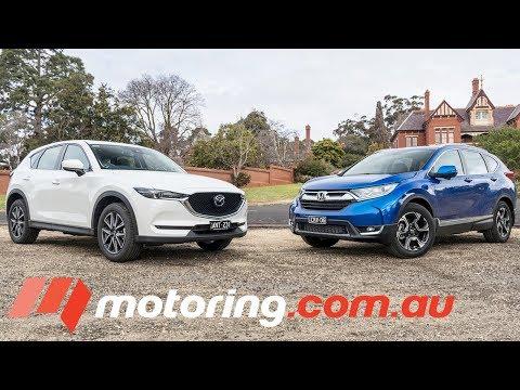 Honda CR-V v Mazda CX-5: 2017 Comparison   motoring.com.au
