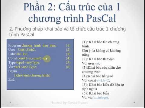 Lập trình PasCal - Bài 1: Giới thiệu về ngôn ngữ PasCal