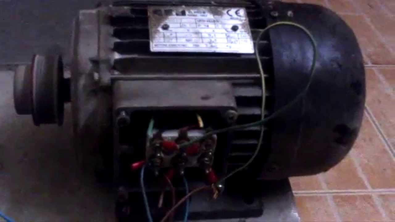 Running 3 Phase Motor 415 Vac On Single Phase 240vac Star Connection Youtube