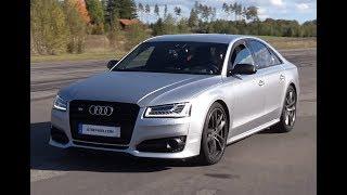 LAUNCH Audi S8 Plus 3,4 s 0-100 km/h GPS-verified UNCUT