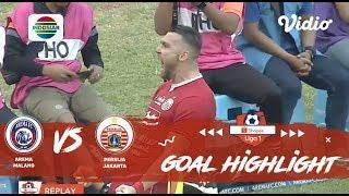 Arema FC (1) vs (1) Persija Jakarta - Goal Highlights | Shopee Liga 1