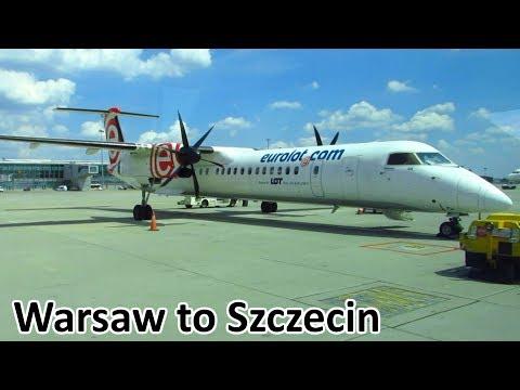TRIP REPORT | EUROLOT Dash 8 | Warsaw WAW to Szczecin SZZ | Full Flight [Full HD]