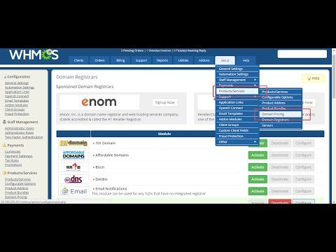 How to create a reseller and connect with WHMCS