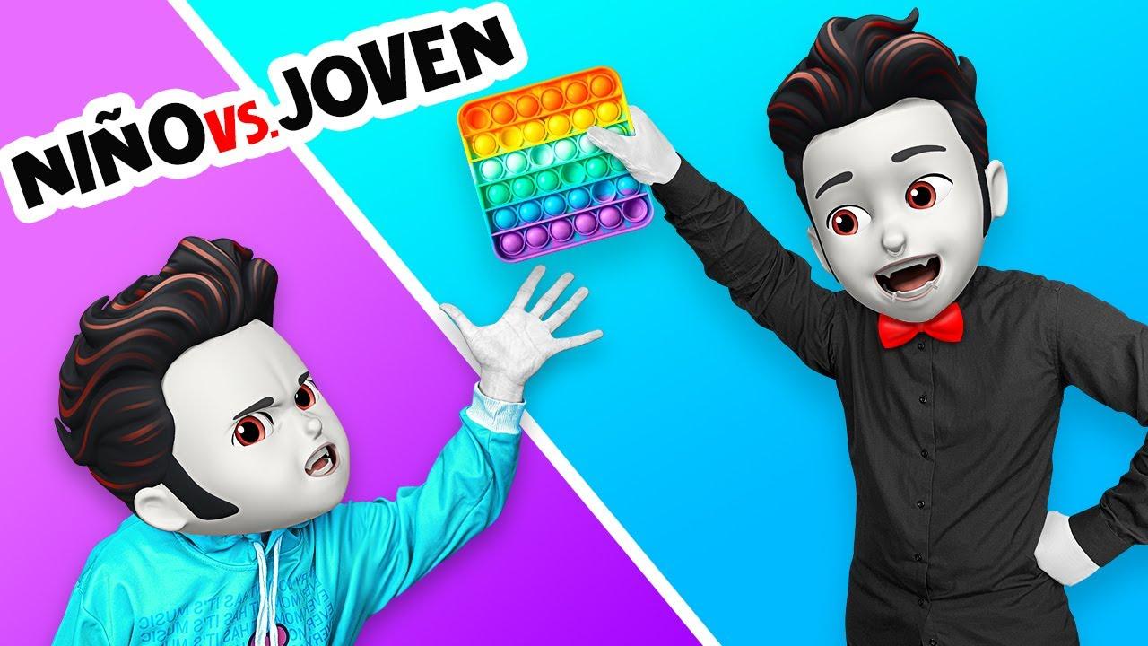 TÚ NIÑO VS. TÚ JOVEN    Situaciones incómodas en la escuela de monstruos por La La Life Emoji