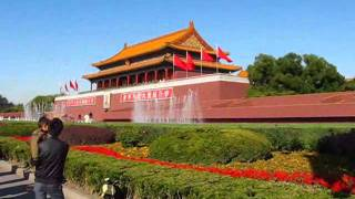 China - Beijing, Tiananmen Square - Dancing Fountain (25.10.2011) 天安门广场