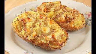 Картошка в Духовке, с Мясом и Сыром. Очень Вкусно!
