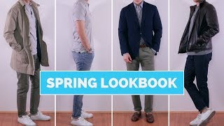 4 Fresh and EASY Spring Outfit Ideas for Men | Spring Lookbook 2018