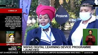 Higher Education Minister, Blade Nzimande launches the NSFAS' Digital Learning Device programme