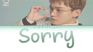 """Cover By CHEN - """"Sorry(고백)"""" by Yang Da-Ill Lyrics (Color Coded Eng/Rom/Han)"""