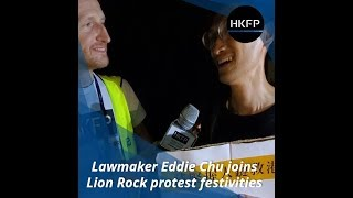 Lawmaker Eddie Chu joins Hongkongers at Lion Rock Mid-Autumn Festival protest