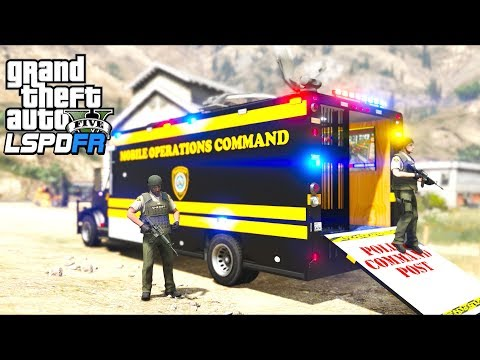 GTA 5 - LSPDFR Ep451 - Mobile Command Center with Holding Cell!!