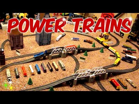 Power Trains - Big Mess of a Layout with 3 Trains