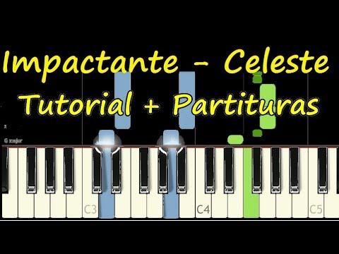 IMPACTANTE CELESTE Piano Tutorial Cover Facil + Partitura PDF Sheet Music Easy Midi thumbnail