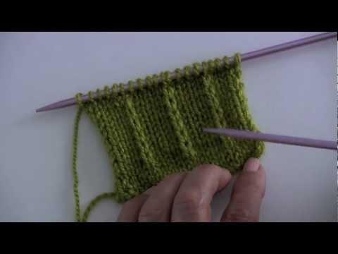 Dejar un punto sin tejer en dos agujas o palillos curso b sico youtube - Puntos para tejer con dos agujas ...