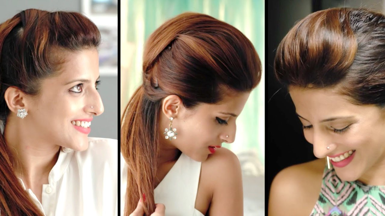 how to create the perfect pouf hairstyles and quick ponytail tricks youtube