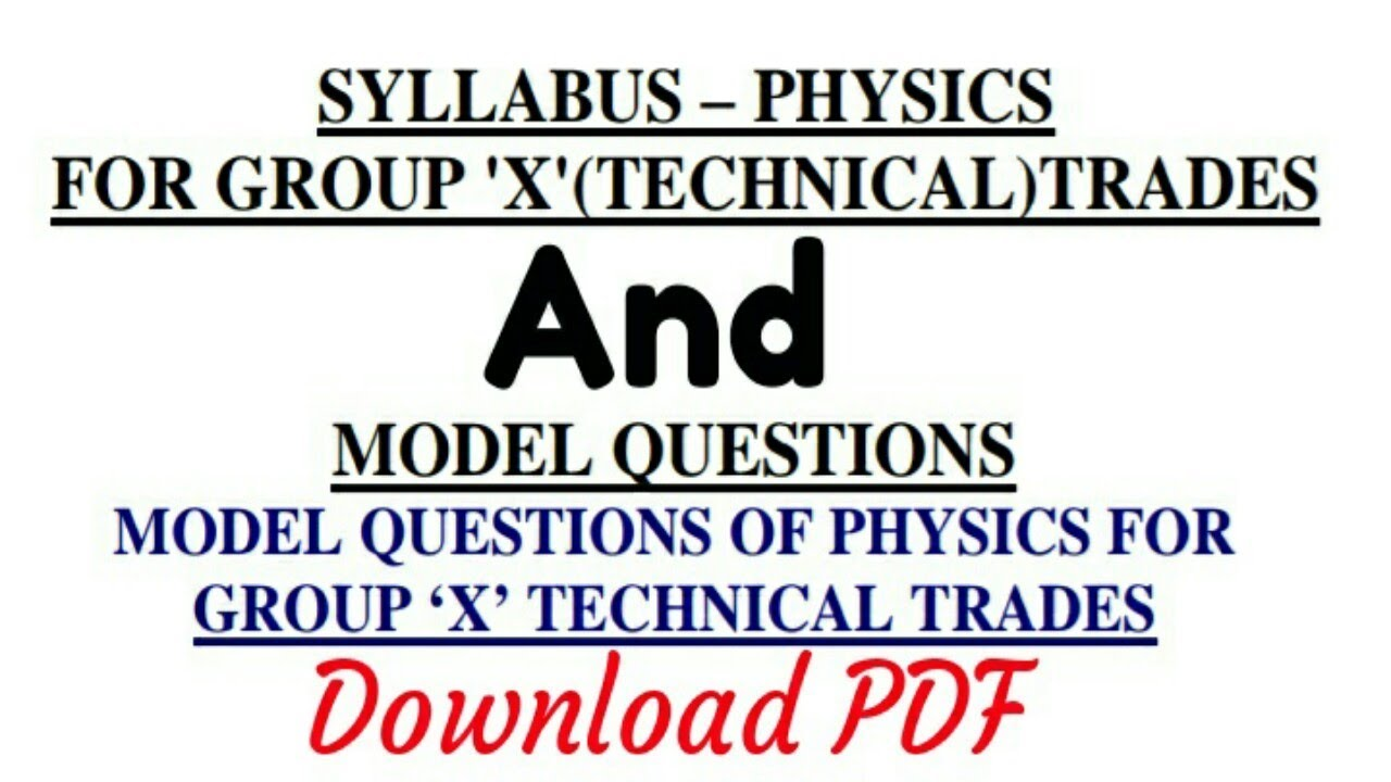 Airmen 'X' Group Physics Previous syllabus & Paper    Download free PDF