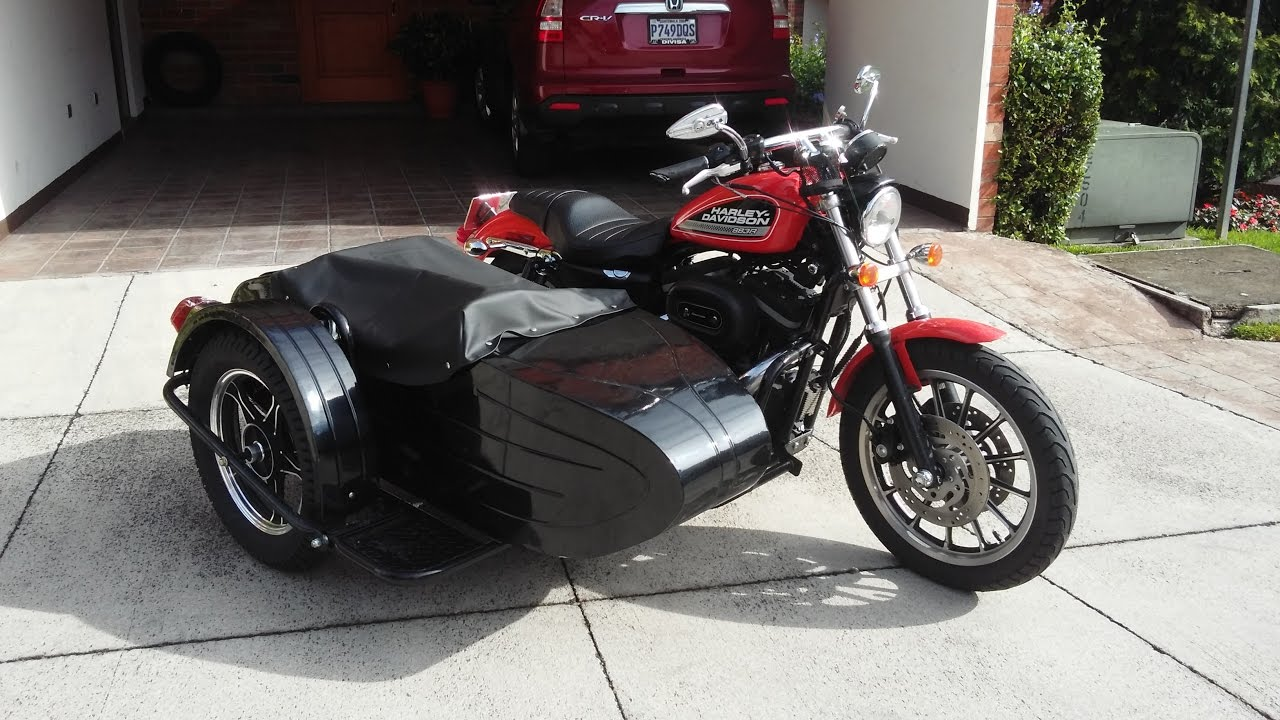Carro Lateral Para Harley Davidson Sportster 883r Youtube
