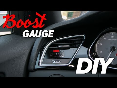 How to Install a Boost Gauge on a B8.5 Audi S4