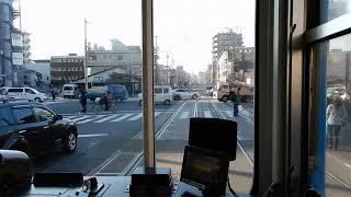 【前面展望】阪堺電車(恵美須町→住吉鳥居前)