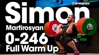 Simon Martirosyan 0-246kg Full Warm Up + Competition 2017 Junior Worlds