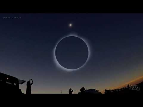 Total Solar Eclipse Flight: 360 degree sunset & flying through an eclipse