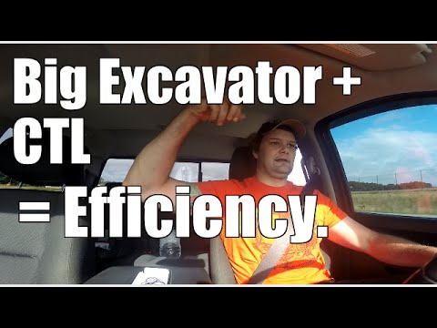 land clearing job review   Excavator and skid steer action