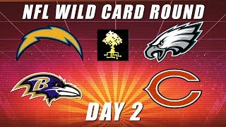 Eagles vs Bears & Chargers vs Ravens: NFL Wild Card Round