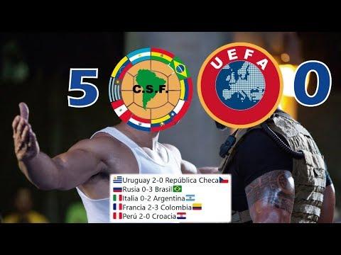 Sudamérica 5 - 0 Europa / El día que Sudamérica Garchó a Europa