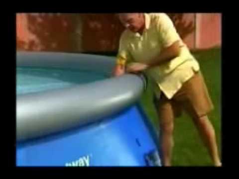 Piscina circolare bestway fast set pool 2 youtube for Piscina best way