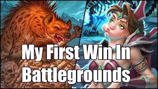 [Hearthstone] My First Win In Battlegrounds