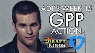 Adi's Action - NFL Week 15 GPP plays for DraftKings and FanDuel