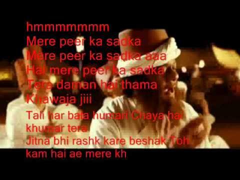 Khawaja Mere Kha  ( Jodhaa Akbar )  Free karaoke with lyrics by Hawwa -