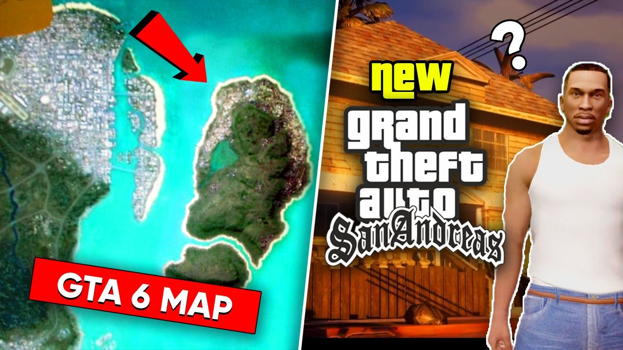GTA 6 MAP LEAKED ONLINE?! ??   Rockstar Games Working on GTA SAN ANDREAS Remastered? ?