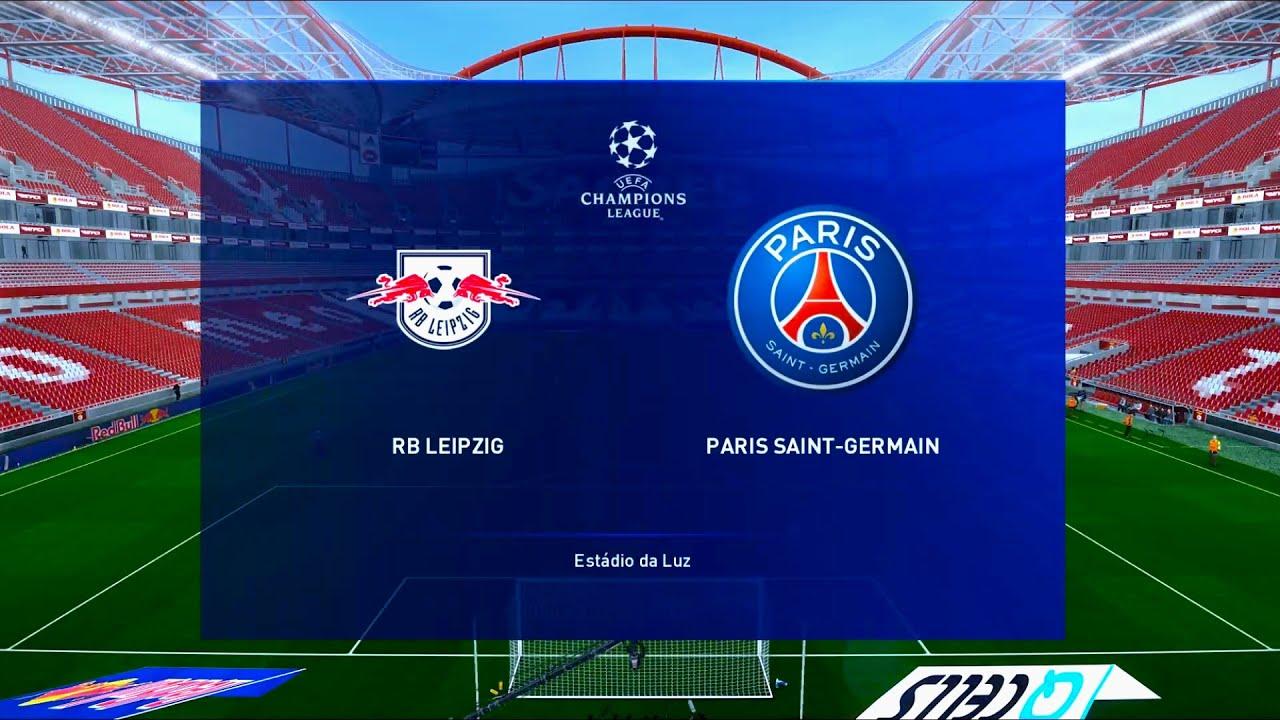 Leipzig Vs Paris Saint Germain Estadio Da Luz Uefa Champions League Pes 2020 Youtube