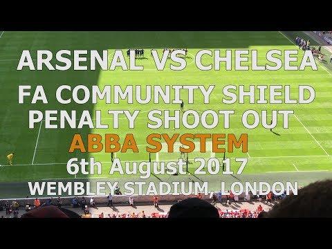 Arsenal v Chelsea Community Shield ABBA Penalty Shootout 06-08-2017 Wembley Stadium London thumbnail