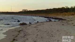 Am Strand von Drewoldke, nahe Altenkirchen früh gegen 8.00 Uhr