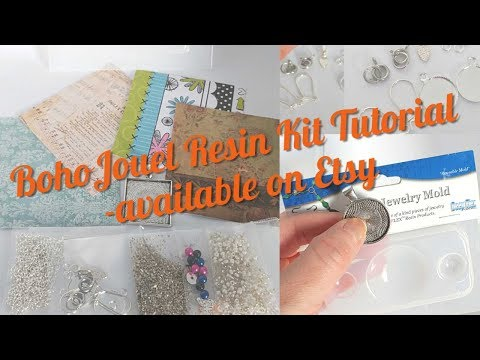 Complete Resin Jewelry Tutorial- BohoJouel Kits