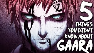 5 things you didn t know about gaara 5 facts   the week of 5 s 6