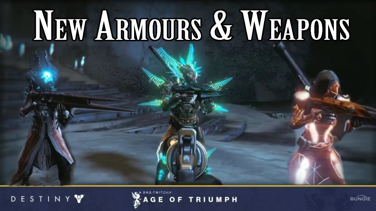 age of triumph raid gear & weapons | destiny | rise of iron - youtube