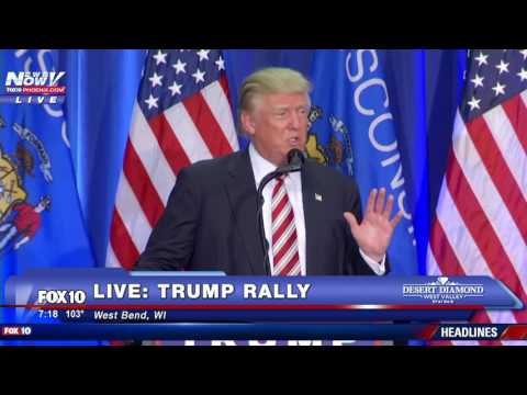 FULL: Donald Trump Speech West Bend, Wisconsin - FNN 8/16/16