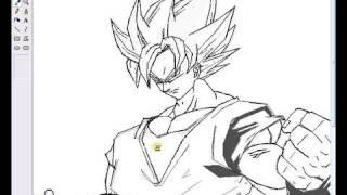 Son Goku ssj1 drawing ms paint [shqip]