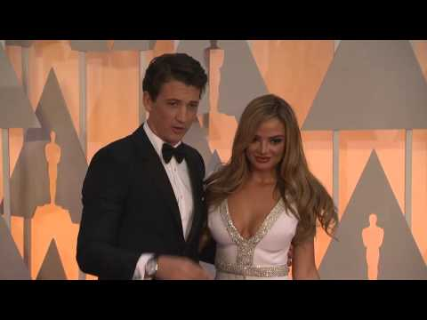 Oscars: Miles Teller and Keleigh Sperry Red Carpet Fashion 2015
