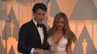 Oscars: Miles Teller and Keleigh Sperry Red Carpet Fashion (2015)