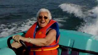 1993 BAYLINER JET BOAT - JAZZ - MY MOM ENJOYING SUMMER BOAT RIDE  2010 JULY.mp4