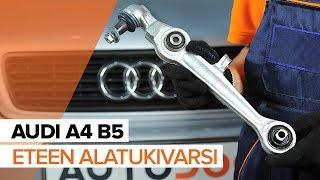 Kuinka vaihtaa etu-alatukivarsi AUDI A4 B5 -merkkiseen autoon OHJEVIDEO | AUTODOC