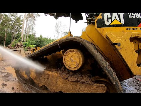 Pressure Washing the Dirtiest Skid Steer Ever | Andrew Camarata Style !